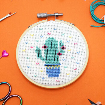 Cactus Mini Cross Stitch Craft Kit