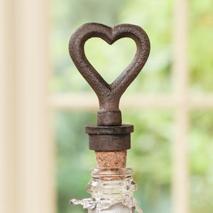 Iron Anniversary Heart Bottle Stopper - drink & barware