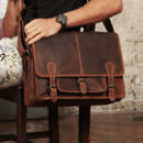 Urban Large Leather Satchel Bag