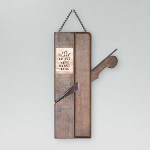 'It's Plane To See' Wood Plane Wall Decoration