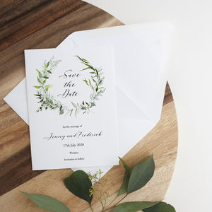 Botanica Eucalyptus Wreath Save The Date