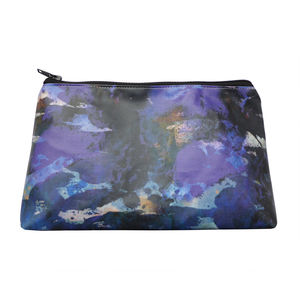 Blue Waterproof Cotton Cosmetic Bag