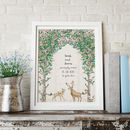 Personalised Woodland Stag And Doe Occasion Print
