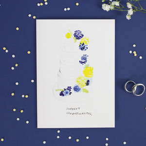 'Sweeeet Congratulations' Wedding Card - wedding cards & wrap