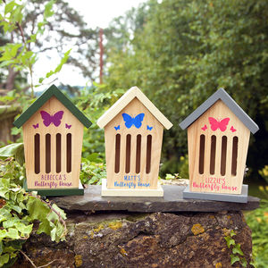 Personalised Wooden Butterfly House - bees & insects