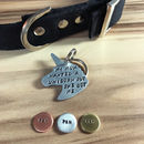 Unicorn Hand Stamped Dog ID Tag