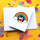 A6 Rainbow Penguin Notebook