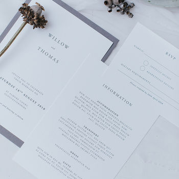 Willow Wedding Invitation Set
