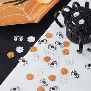 Spooky Spider And Web Halloween Confetti - dining room