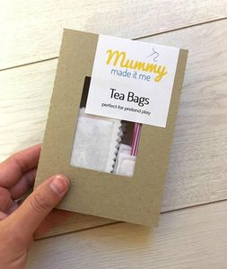 Pretend Play Felt Food Tea Bags