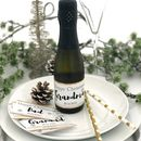 Mini Christmas Champagne Prosecco Label
