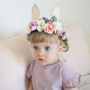 Easter Floral Headdress With Bunny Ears