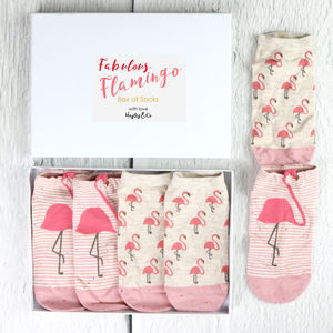 Fabulous Flamingo Box Of Socks - women's fashion