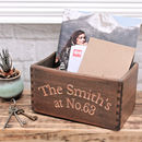 Personalised Carved Wooden Pot Planter Or Storage Box