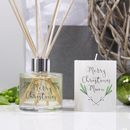 Christmas Reed Diffuser And Candle Gift Set