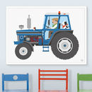 Blue Tractor Print