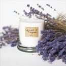 Soothing Lavender And Marjoram Scented Candle