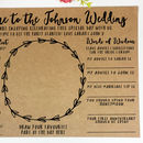 Personalised A4 Wedding Games Placemat Activity Sheet