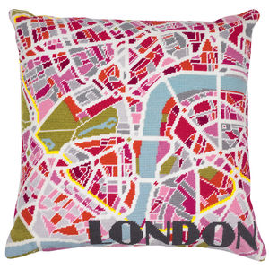 Contemporary London Light City Map Tapestry Kit - sewing & knitting