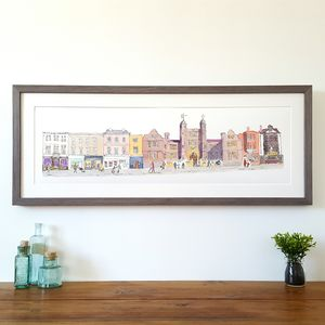 Guildford Upper High Street Limited Edition Print - drawings & illustrations
