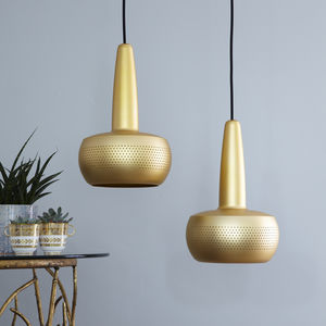 Mini Metal Pendant Lampshade White Or Gold - pendant lights