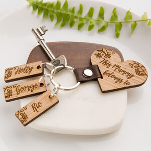 Personalised Botanical 'This Mummy Belongs To…' Keyring