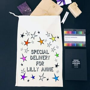 Colour Own Personalised Santa Sack Christmas Eve Box
