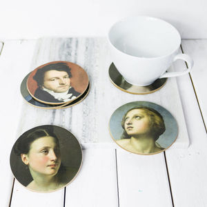 National Gallery Portraits Coaster Set - new in home