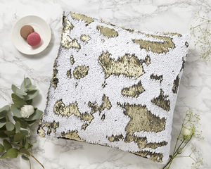 Mermaid Pillow Sequin Cushion - living room