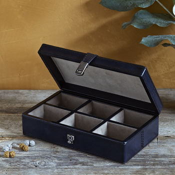 Cufflink Box With Six Sections