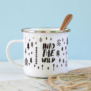 Into The Wild Enamel Mug - garden sale