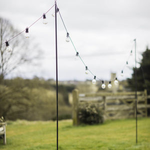 Festoon Pole - fairy lights & string lights