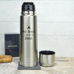 Personalised Stainless Steel Family Activity Flask