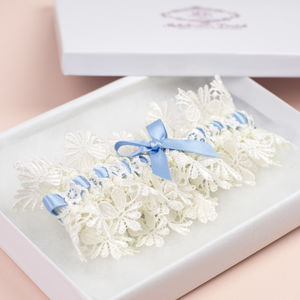 Vintage 'Blue Ice' Bridal Garter - winter styling