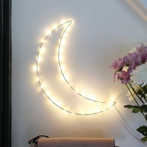 LED Light Up Moon Decoration - fairy lights & string lights
