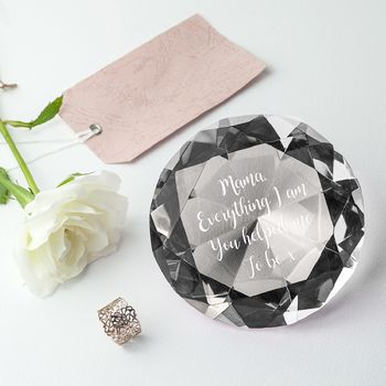 Personalised Diamond Paper Weight