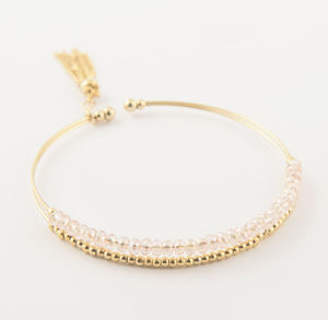 Celia Gold Plated Bead And Tassel Bangle - brand new partners