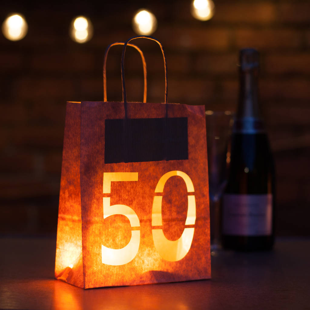 50th Birthday Party Decorations Lantern Bag