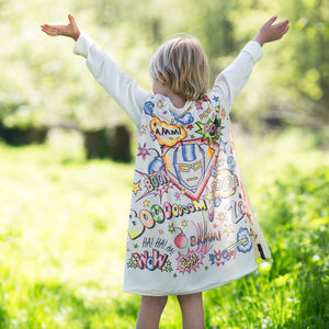 Personalised Superhero Colour In Cape With Fabric Pens - our top sale gift picks
