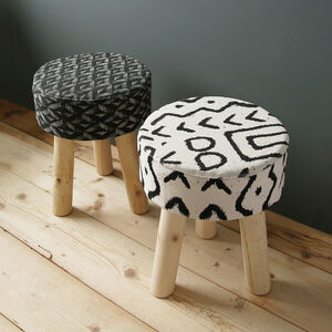 Monochrome Patterned Stool