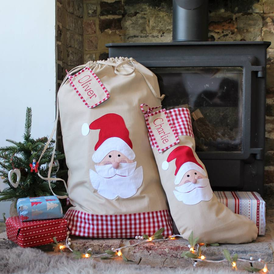 Personalised Christmas Santa Stocking Sack Extra Large By The