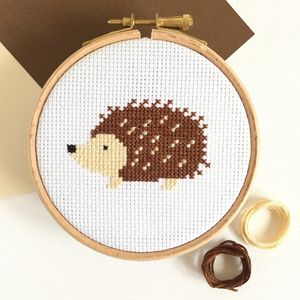 Hedgehog Cross Stitch Kit - sewing & knitting
