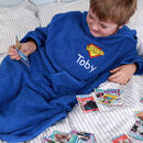 Personalised Boy's Hooded Logo Poncho