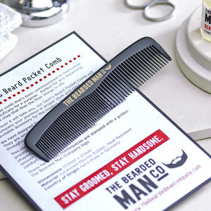 001 The Bearded Man Company Gents Beard Pocket Comb