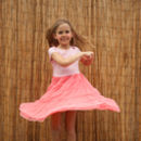 Girls French Designer Tulle Twirl Party Dress