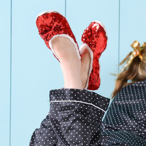 Sparkle Sequin Slippers - lingerie & nightwear