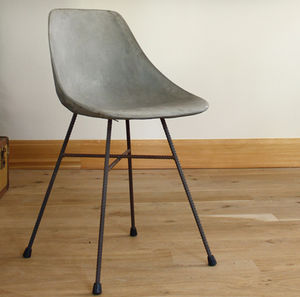 Hauteville Concrete Chair - dining room