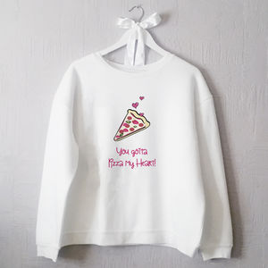 Pizza My Heart Valentine Jumper - sweatshirts & hoodies