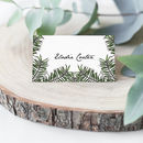 Tropical Palm Leaf Wedding Place Cards Pack 10