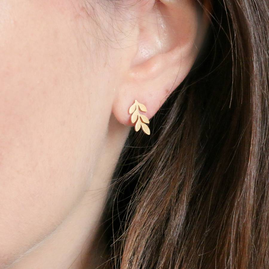 cut stud are earrings precious semi delicate these from gold made stone pin